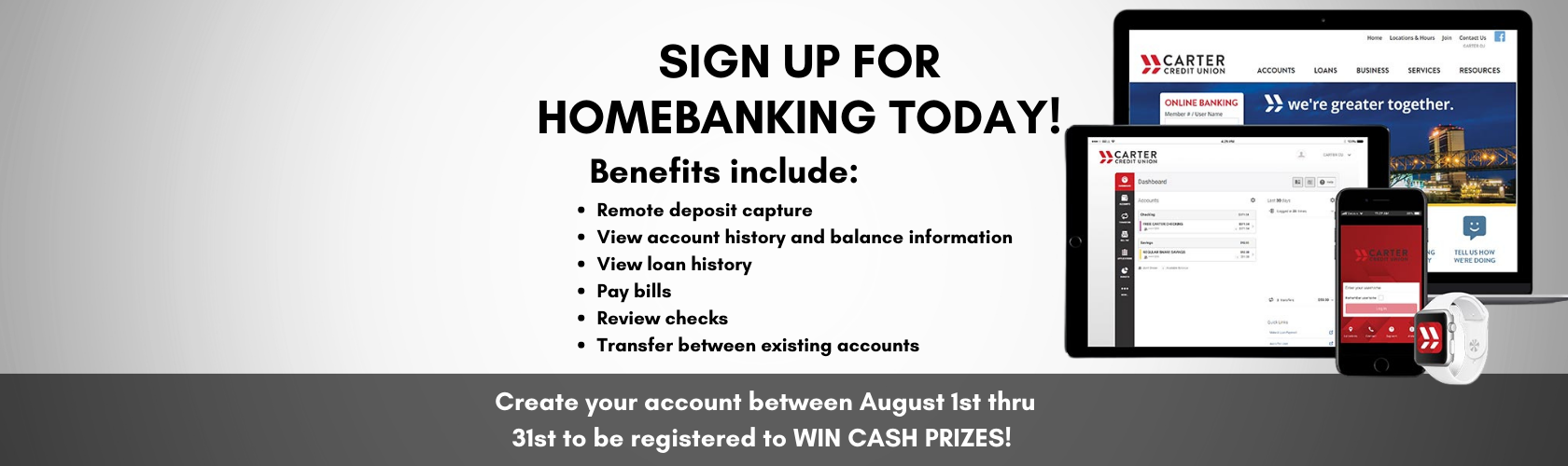 Opening an account is now just a few clicks away! Enjoy Carter's NEW online account opening anytime, anywhere.